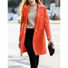 Notched Lapel Bright Long Jacket