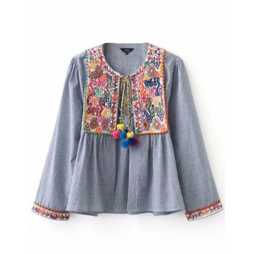 'Filippa' Embroidered Retro Jacket