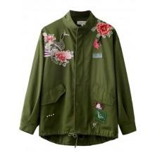 Embroidered Floral & Bird Jacket