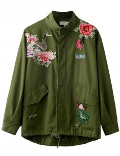 Embroidered Floral & Bird Jacket