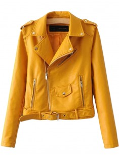 Zippers PU Moto Jacket
