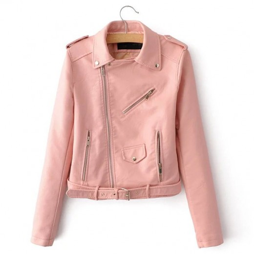 Zippers PU Moto Jacket