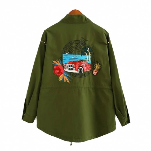 'Gerda' Green Patches Jacket