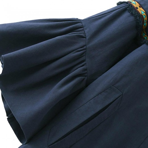 'Guilia' Bell Sleeve Navy Jacket