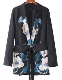 'Lucretia' Floral Pattern Blazer