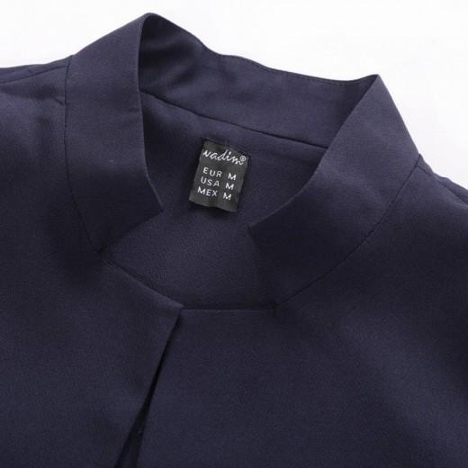 Stand Collar Long Vest Jacket