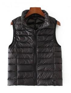 'Hadley' Cute Black Puffer Vest