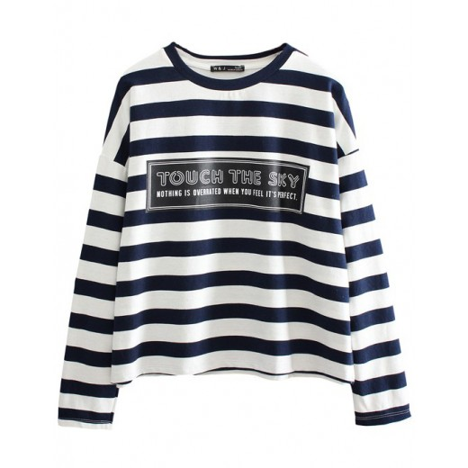 Touch The Sky Striped Pullover