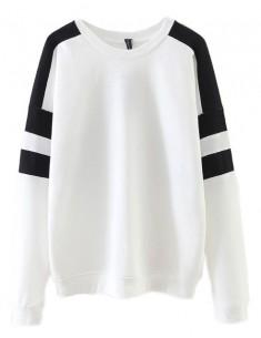 Contrast Loose Sweatshirt