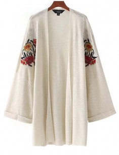 'Noelle' Floral Embroidered Cardigan