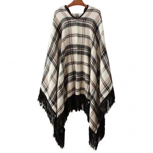 'Jacqueline' Tassel Knitted Cape