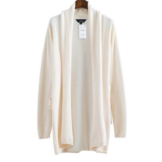'Shirley' Open Off-White Cardigan