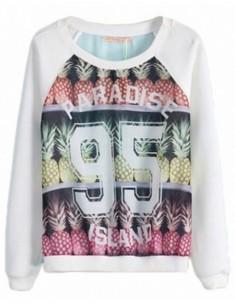 Paradise Letters Pineapple Sweatshirt