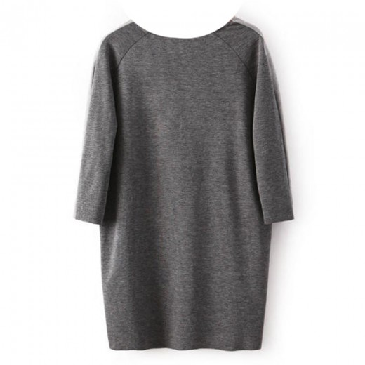 V-Neck Grey Pullover