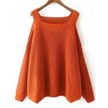 Sexy Knitted Off Shoulder Pullover