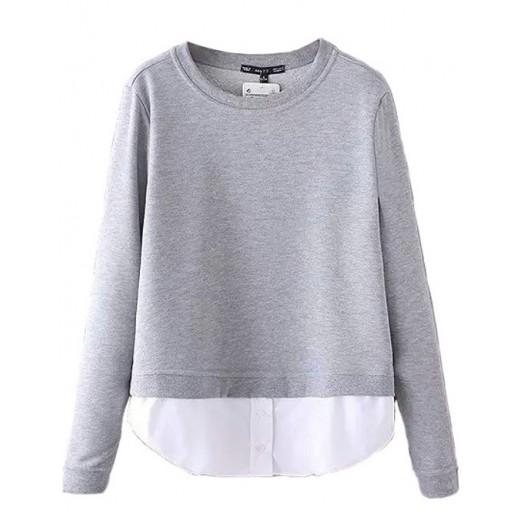 Casual Spliced Pullover