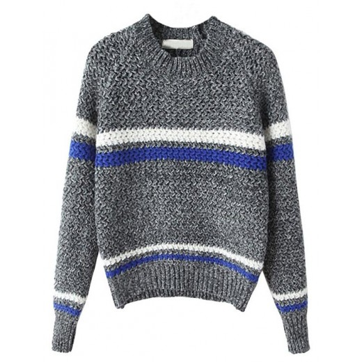 Knitted Crop Grey Pullover
