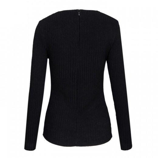 Lace-Up Knit Stretchy Sweater