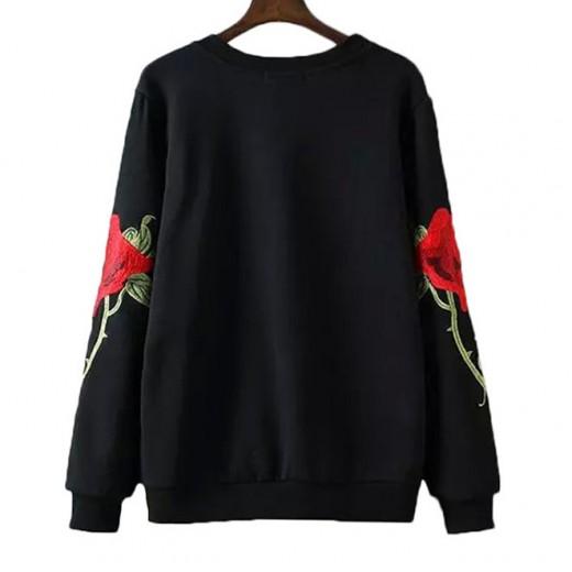 'Kayla' Floral Black Sweatshirt