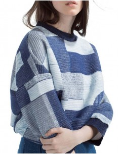 Soft Patchwork Pullover