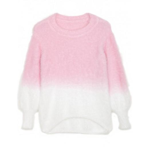 'Virginie' Gradient Fuzzy Sweater