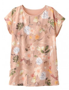 Delicate Short Sleeve Floral T-shirt