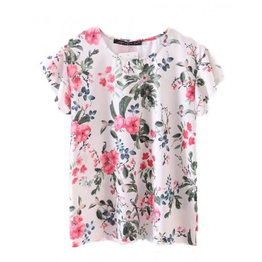 Floral Print Summer T-shirt