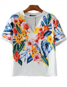 'Denise' Bright Floral Tee
