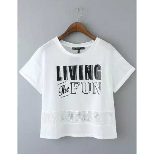 Living the Fun Letters Crop Top