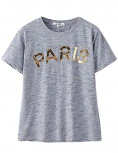 Paris Letters Grey T-shirt