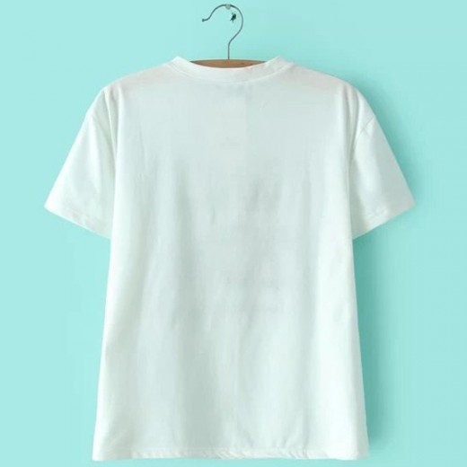 Hope 2C U Letters Embroidered T-shirt