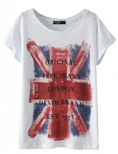 Letters British Union Jack Print Top