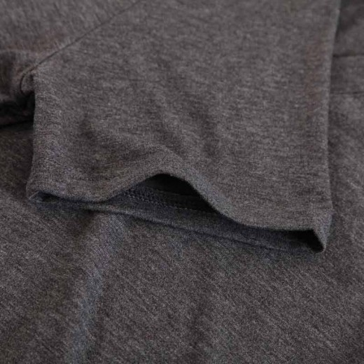 V-neck Basic Dark Grey T-shirt