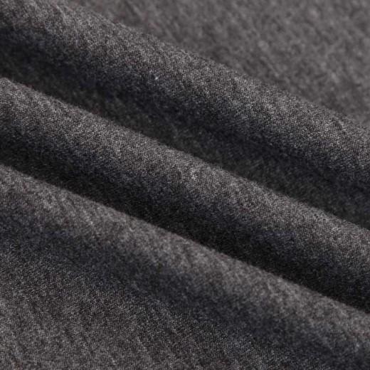 V-neck Basic Dark Grey T-shirt