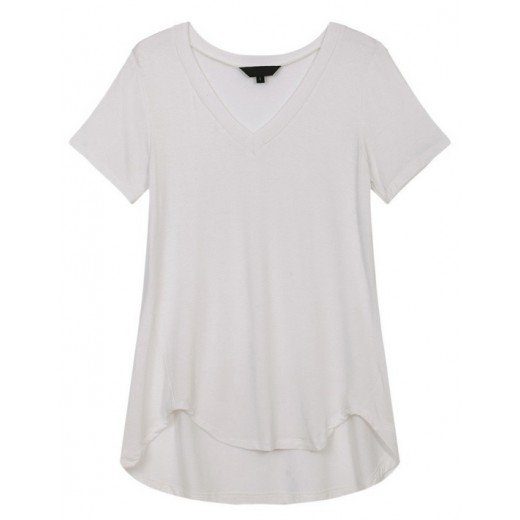 V-neck Basic White T-shirt