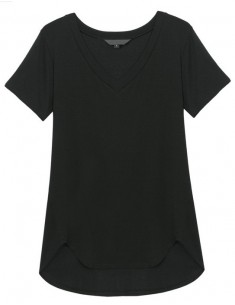 V-neck Basic Black T-shirt