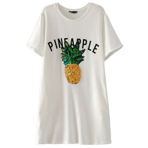 Pineapple Sequined Long T-shirt