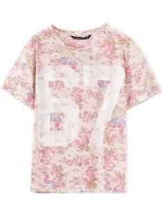 Roses Floral Print Number T-shirt
