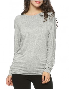 Side Shirring Soft Basic Tee