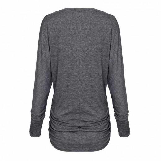 Side Shirring Soft Basic Tee