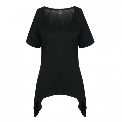 Cut Out Shoulder Basic Top