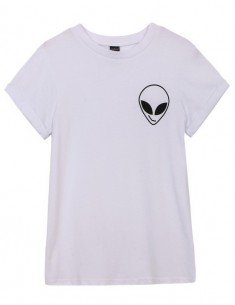 Alien White T-shirt