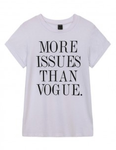Vogue Letters Print White T-shirt