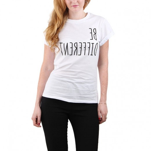 Be Different Letters Print T-shirt