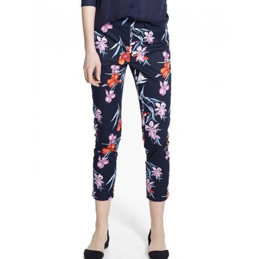 Floral Print Chiffon Pants