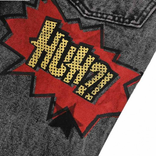 Stars & Letters Patch Grey Jeans