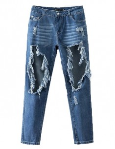 Destroyed Ripped Boyfriend Jeans