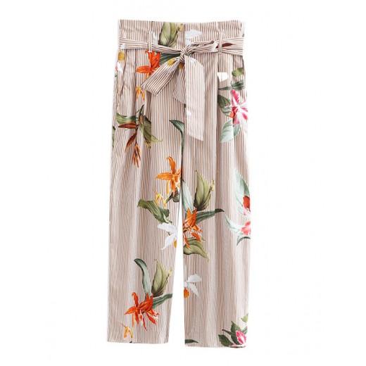 High Waist Floral Oversized Pants