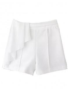 Casual Straight Draped Shorts
