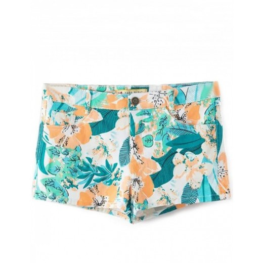 Leaves & Flowers Orange Print Shorts